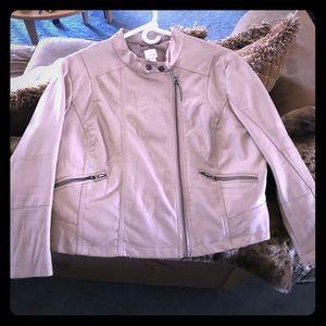 Lauren Conrad Pink Moto Jacket